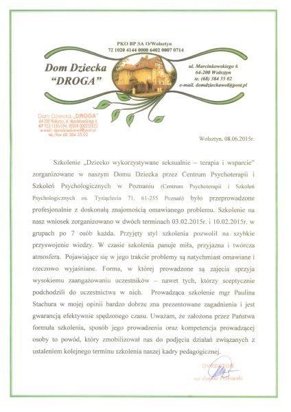 Referencje DD Wolsztyn PS 15